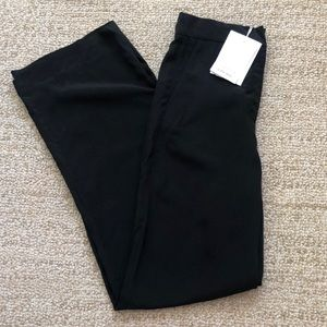 & Other Stories Wide Leg High Wasited Pants Black